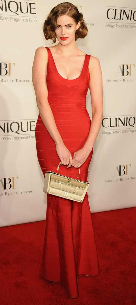 Red long dress plus size urban