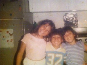 Elementary school with my brother and cousin